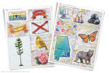 Printable clip art of Alabama State symbols.