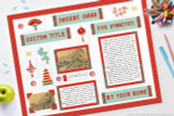 Example Ancient China poster display made with our printable kit!