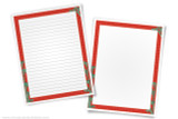 Ancient China themed printable border templates.
