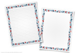 Printable writing templates for France reports. Perfect for Geography Fairs and Girl Scout World Thinking Day projects.