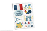 France printable Clip Art. Use for your report on France, Geography Fair, or Girl Scout World Thinking Day Project.