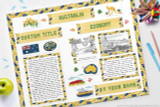Use this kit to make a report on Australia.  For Girl Scout World Thinking Day or Geography Fair.