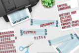 Custom titles printable England themed