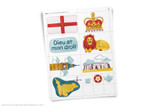 England themed clip art. Printable.