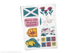 Scotland themed printable clipart.