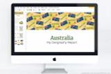 Australia themed PowerPoint template.