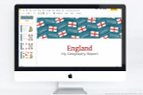 England themed PowerPoint template.