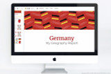 Germany themed PowerPoint template - use for school reports!