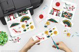 Use this printable Japan themed clip art for your Geography Fair, Japan Report, Girl Scout World Thinking Day display etc.