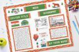Use this printable kit to make your India display board!