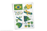 Printable Brazil themed clip art!