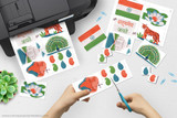Printable India clip art for school projects, reports, Geography Fairs, Girl Scout World Thinking Day.