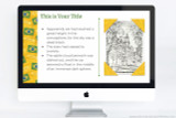 Brazil PowerPoint theme for school reports, includes colorful Brazil themed graphics for your project.