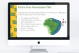 Brazil themed Powerpoint template, also compatible with Google Slides and Apple Keynote.