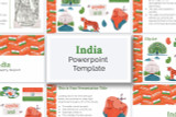 Download this India PowerPoint deck template kit for your school report!