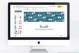 Israel themed PowerPoint template.