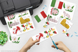 Printable Italy clip art for school projects, reports, Geography Fairs, Girl Scout World Thinking Day.