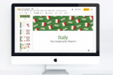 Italy themed PowerPoint template.