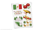 Printable Mexico themed clip art!