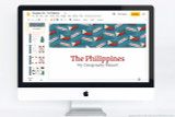 The Philippines themed PowerPoint template.