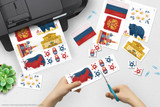 Printable Russia clip art for school projects, reports, Geography Fairs, Girl Scout World Thinking Day.
