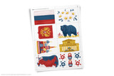 Printable Russia themed clip art!