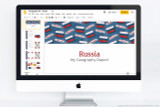 Russia themed PowerPoint template.