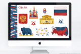 Russia themed clip art and PowerPoint deck template to use for school projects. Includes:  Flag of Russia, Map of Russia with capital Moscow, Coat of Arms of Russia, National flower of Russia: Chamomile (Matricaria Recutita), National Animal of Russia: Russian Brown Bear, National Bird of The Philippines: Philippine Eagle, Russian Landmark: St. Basil's Cathedral, Russian Landmark: Bolshoi Theatre, Matryoshka Stacking Doll, Folk Flower Motif