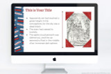 Russia themed PowerPoint theme, with flag of Russia artwork.
