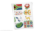Printable South Africa themed clip art!