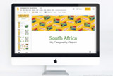 South Africa themed PowerPoint template.
