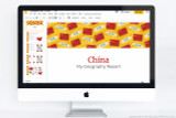 China themed PowerPoint template.