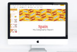 Spain themed PowerPoint template.