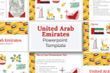 Use this United Arab Emirates PowerPoint template theme for your report!