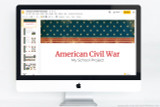 Downloadable PowerPoint template for American Civil War reports and projects.