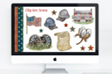 American Civil War clip art and icons.