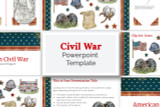 Powerpoint template for Civil War Reports.