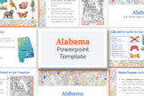This Alabama powerpoint template theme is the easiest way to do a state report.