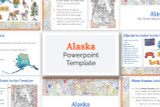 This Alaska powerpoint template theme is the easiest way to do a state report.