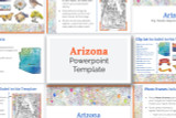 This Arizona powerpoint template theme is the easiest way to do a state report.