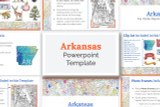 This Arkansas powerpoint template theme is the easiest way to do a state report.