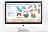 Customize each page of your California presentation. Add your own titles, writing, and images, or the use the included clip art.