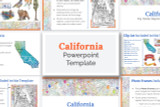 This California powerpoint template theme is the easiest way to do a state report.