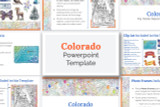 This Colorado powerpoint template theme is the easiest way to do a state report.