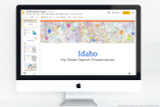 Idaho PowerPoint template theme, everything you need to make your state report fast and easy.