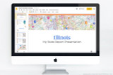 Illinois PowerPoint template theme, everything you need to make your state report fast and easy.