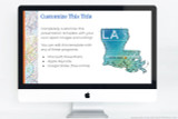 Customize each page of your Louisiana presentation. Add your own titles, writing, and images, or the use the included clip art.