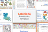 This Louisiana powerpoint template theme is the easiest way to do a state report.