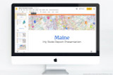 Maine PowerPoint template theme, everything you need to make your state report fast and easy.