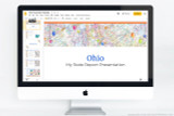 Ohio PowerPoint template theme, everything you need to make your state report fast and easy.